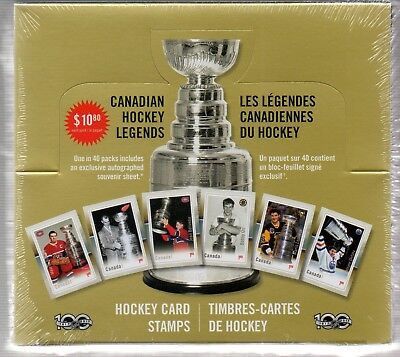 2017 Canada Post Great Canadian Hockey Legends Sealed Pack Lemieux Orr Auto NHL