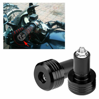 "Black Universal Motorcycle 22mm 7/8"" Handle Bar Ends Weight Plug Grip Aluminum"