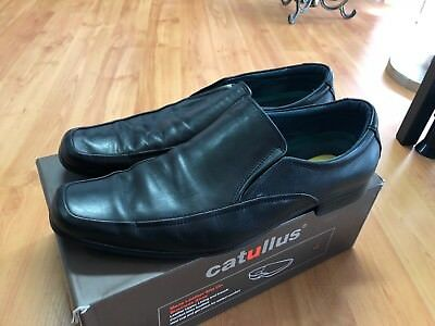 Mens Leather Slip on Shoes Black for Work, Special Occasion, Wedding