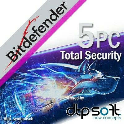Bitdefender Total Security 5 PC 2019 5 dispositivi 1 anno 2018 IT EU