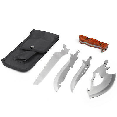 4in 1Survival Knife Shovel Axe Saw Outdoor Hiking Camping Emergency Multi-ToolAU
