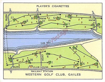 Cigarette Card Players  Championship Golf Courses Western Golf Club Gailes Lot 7