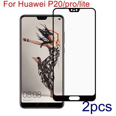 Genuine Full cover Tempered Glass Film Screen Protector For Huawei P20/pro/lite
