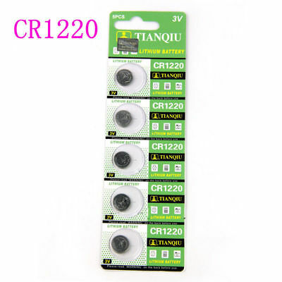 Lots of 5PCS CR1220 3V Coin Button Batteries Cell Battery For Watch Toys Remote