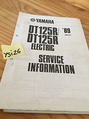 Yamaha Dt125R 1989 DTR 125 DT125 R service information technique technical data