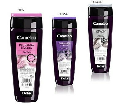 DELIA CAMELEO COLOUR HAIR RINSE PURPLE, PINK or SILVER 200ml