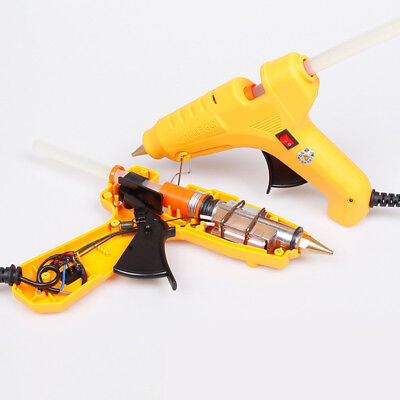 20/25W Electric Heating Hot Melt Glue Gun Art Craft Repair Tool +10X Glue Sticks