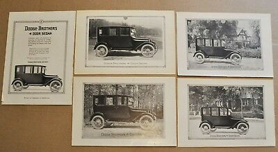 1919 DODGE BROTHERS advertisements x5, Dodge Sedan, vintage auto ad