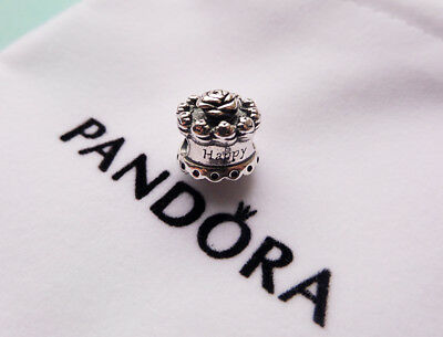 Authentic Pandora Happy Birthday Cake Charm S925 ALE with gift pouch