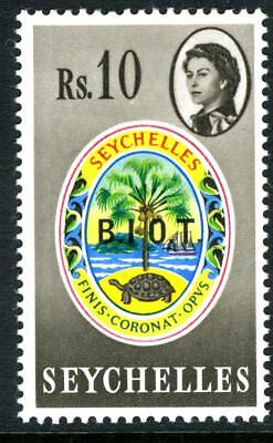 """BRITISH INDIAN OCEAN TERRITORY-1968 10r with """"NO STOP AFTER 1"""" LMM Sg 15b"""