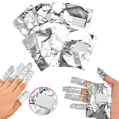 FR_ EG _ 100pcs Aluminium Feuille Art Ongles Tremper Gel Acrylique Vernis