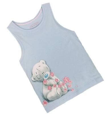 Girls Tatty Teddy Me To You Summer Vest Top Pale Blue Sleeveless 6 - 14 Years