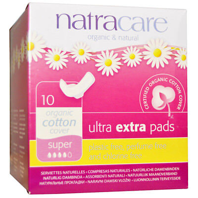 NATRACARE - Organic & Natural Ultra Extra Pads Super - 10 Pads