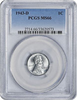 1943-D Lincoln Cent MS66 PCGS 66 Mint State Steel