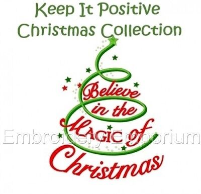 Keep It Positive Christmas Collection - Machine Embroidery Designs On Cd