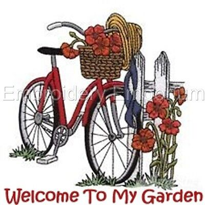 Welcome To My Garden Collection - Machine Embroidery Designs On Cd