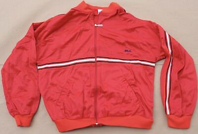 762e3a4bc99c Vintage FILA Red Sweatshirt sweater Running Outdoor Jacket Coat Mens Size  52 XXL