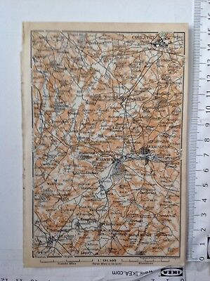 Coventry & Warwick, 1906, Antique Map,  Atlas