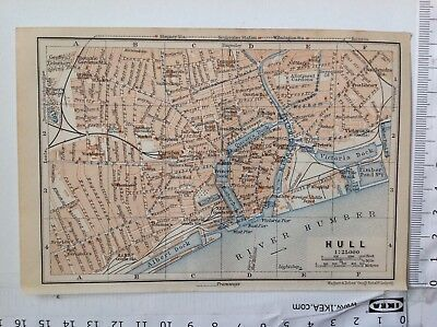 Hull Street Plan, 1906, Antique Map,  Atlas