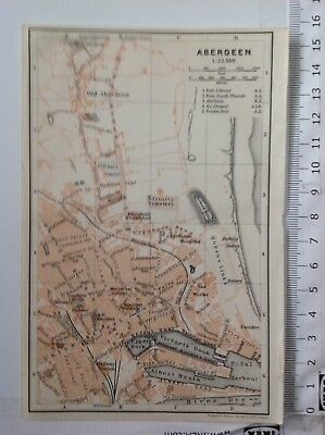 Aberdeen Street Plan, 1906, Antique Map,  Atlas