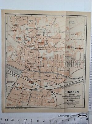 Lincoln  Street Plan, 1906, Antique Map,  Atlas