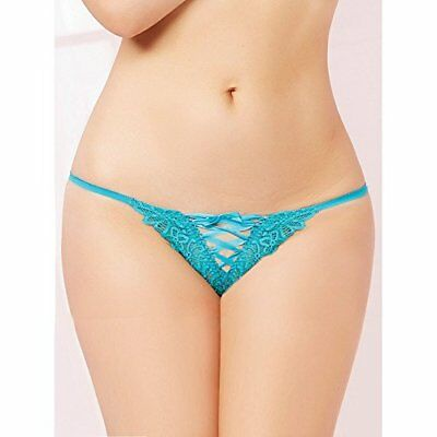 (TG. L) blu Seven Til Midnight: Tropical Galloon Lace Perizoma, colore: turchese