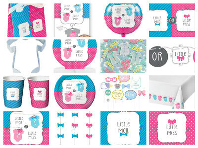 Bow Or Bowtie Gender Reveal Baby Shower Party **Multi Listing** Cups Plates