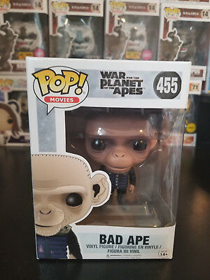 Funko Pop! Movies War for the Planet of the Apes Bad Ape #455 WITH PROTECTOR!