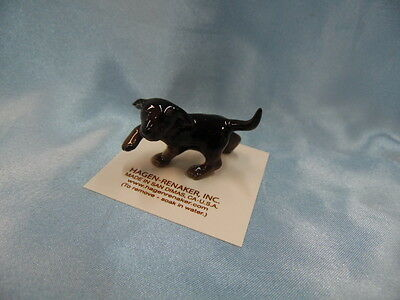 Hagen Renaker Dog Black Labrador Pup Black Lab Figurine Miniature NEW