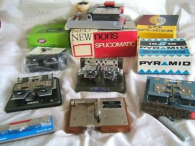 Collection Of 7 Different Splicer's For 8mm, Super 8 & 16mm Film