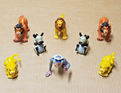 Lot of 8 Disney The Lion King Small Plastic Toy Figures