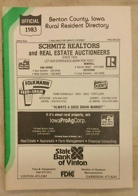 1983 Benton County, Iowa Rural Directory.
