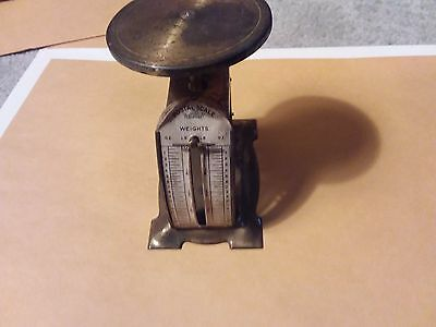 Vintage Brass Postal Scale - 3 1/4 Inches
