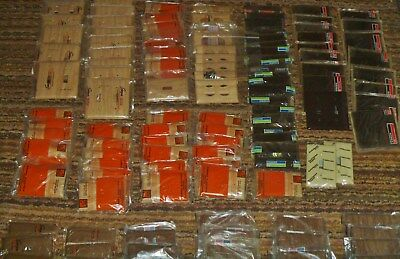 Lot 140 Vintage Plastic Bakelite Sierra Brown Beige Outlet Switch Plate Covers