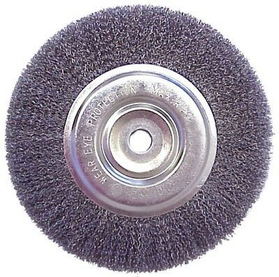 "Replacement 6"" Inch Diameter Wire Brush Wheel for Bench Grinder"