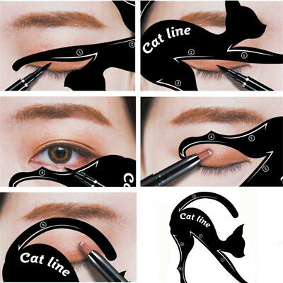 FR_ chat EYE-LINER Guides Facile Rapide maquillage outil pochoirs modèles Cool