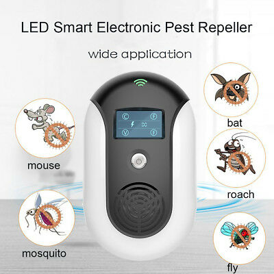Loskii LED Ultrasonic Pest Repeller Multiple Sound Waves Insect Mosquito Killer