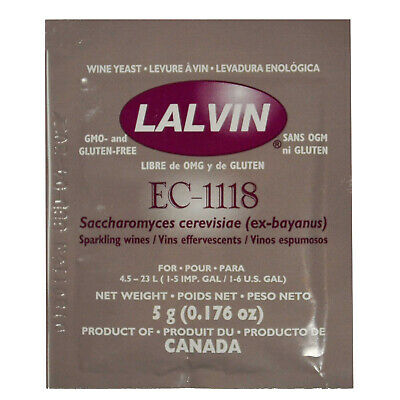 Lalvin EC-1118 Wine Yeast home brew  Free Shipping