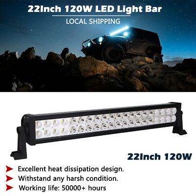 22 inch 120W LED Work Light Bar Combo Beam Offroad Truck Boat SUV 4X4 Jeep 20/24
