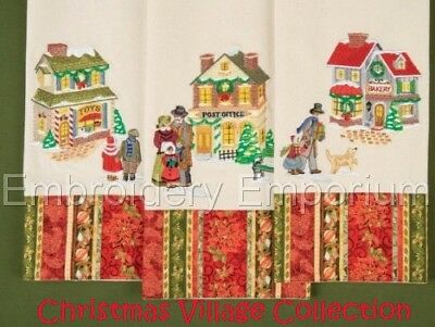Christmas Village Collection - Machine Embroidery Designs On Cd