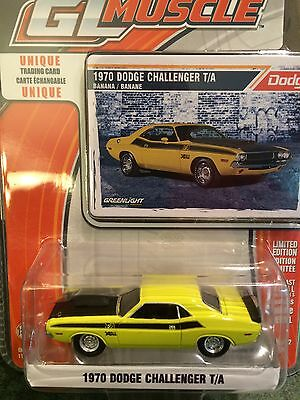 Greenlight MUSCLE  1970 Dodge Challenger R/T   Banana Yellow