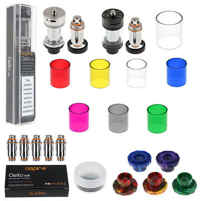 For Aspire Cleito 120 Sub Ohm Tank | 0.16Ohm Coils Heads | Glass Tube | Drip Tip