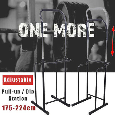 Adjustable Fitness Power Tower Dip Pull Up Chin Up Bar Station Home Gym Exercise