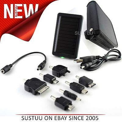 Universal Solar Charger│7 Adaptors & USB Cable│For Mobile Phones-MP3/4-PDA-iPODs