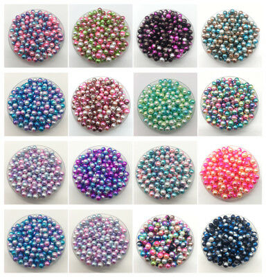 4mm-10mm Multicolor No Hole Imitation Pearls Round Beads DIY Jewelry Making #CA