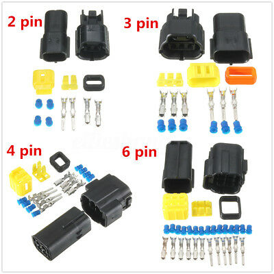 2/3/4/6 Pin Waterproof Electrical Car Auto Wiring Cable Connectors Wire Block#