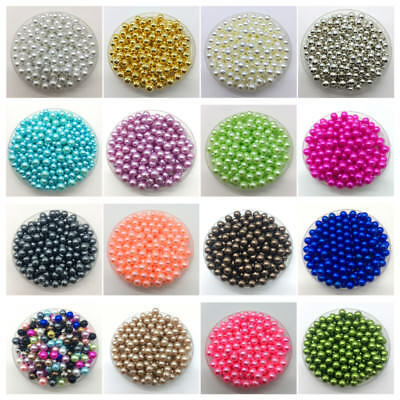 4mm 6mm 8mm 10mm No Hole Imitation Pearls Round Beads DIY Jewelry Making