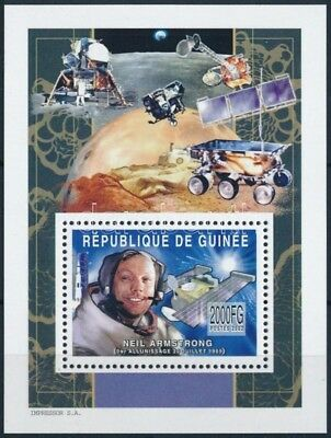 Guinea stamp Space Traveling block MNH 2002 Mi 768 A WS250710