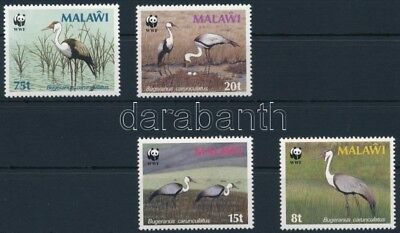 Malawi stamp WWF Crown crane set MNH 1987 Mi 477-480 WS250724