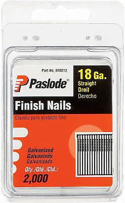 "2,000-count 2"" 18-gauge Galvanized Brad Nails, Paslode, 650215"